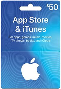 App Store & iTunes $50 Gift Card (Physical) - Prime Required