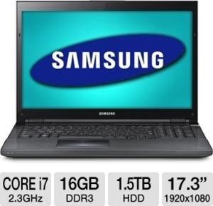 Samsung Series 7 NP700G7C-S01 Gaming Laptop Ivy Bridge Quad Core i7-3610QM, GeForce GTX 675M, 16GB RAM, Blu-ray