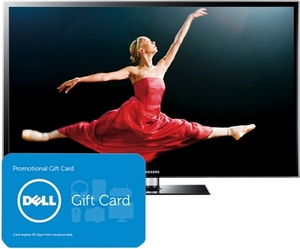 Samsung PN51E490 51-inch Plasma 3D HDTV with 3D Glasses (2 Pairs) and $100 eGift Card
