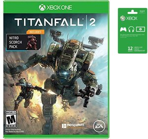 Xbox Live Gold 12 Month Membership + Titanfall 2 with Nitro Pack DLC