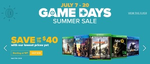 "GameStop ""Game Days"" Summer Sale"