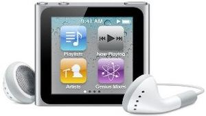 Apple iPod nano 8GB (new 6th gen) - Silver