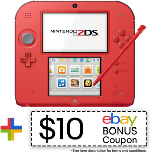 Nintendo 2DS Crimson Red (Refurbished) + Mario Kart 7