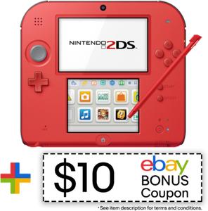 Nintendo 2DS Crimson Red 2 (Refurbished)