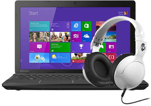 Toshiba Satellite C55-A5300 Celeron 1037U, 4GB RAM + Skullcandy Hesh 2.0 Headphones + 6-Mths Unlimited Cloud Storage