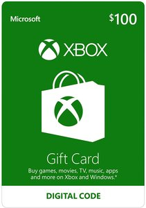 $100 Xbox Gift Card (Email Delivery)