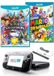 Nintendo Wii U 32GB Bundle + Smash Bros & Mario 3D World (Pre-owned)