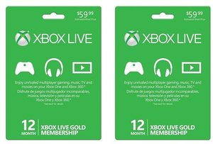 Xbox Live Gold 12 Month Membership (2 Pack)