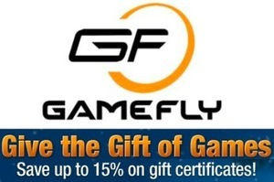 15% Off Gamefly Gift Certificates