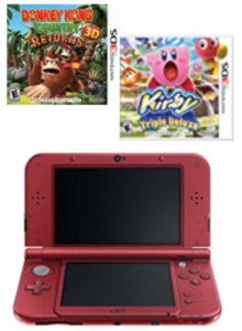 New Nintendo 3DS XL Red + Chibi-Robo! Zip Lash + Sonic Generations (Pre-owned)