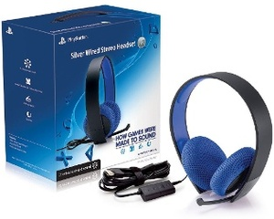 Sony Playstation Silver Wired Headset