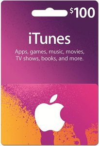 $100 iTunes Gift Card (Physical)