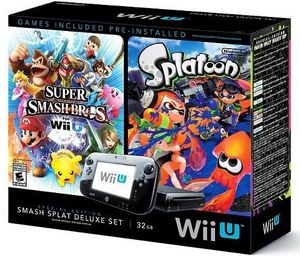 Nintendo Wii U 32GB Deluxe + Super Smash Bros. + Splatoon