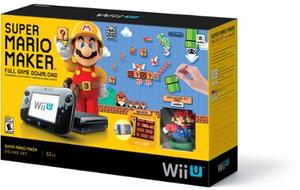 Wii U Console 32GB Deluxe Set + Super Mario Maker + Free 1 Game + Amiibo Figure