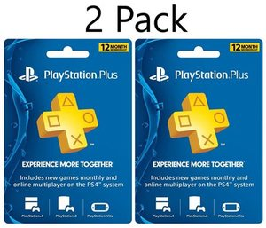 PlayStation Plus 12-Month Card (2-Pack)
