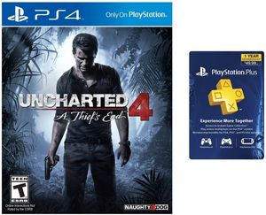 Uncharted 4: A Thief's End (PS4) + PS Plus 12-month Membership
