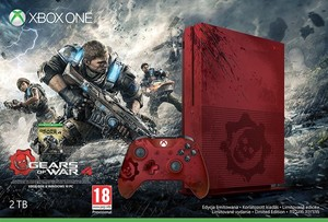 Xbox One S 2TB Gears of War 4 Limited Edition Bundle + Extra Controller + Free Game