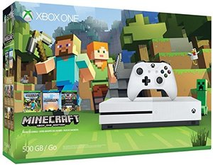 Xbox One S 500GB Minecraft Bundle + Free Game