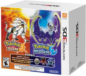 Pokemon Sun & Moon Dual Pack + 3 Figures (Nintendo 3DS)