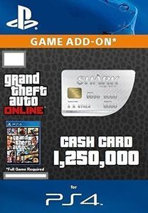 Great White Shark Cash Card ($1,250,000 - PS4)