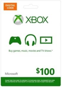 Xbox Live $100 Gift Card (Digitial Code)