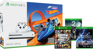 Xbox One S 500GB Forza Horizon 3 Hot Wheels Bundle + Star Wars Battlefront 2 + Grand Theft Auto V