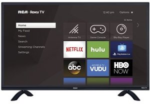 RCA RTRU5527-W 55-inch 4K HDR Roku Smart TV