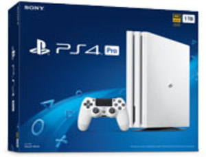 PlayStation 4 Pro 1TB Glacier White System + $25 Coupon
