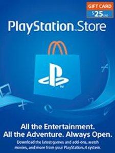 $25 PSN Store Credit (PS4 Download)