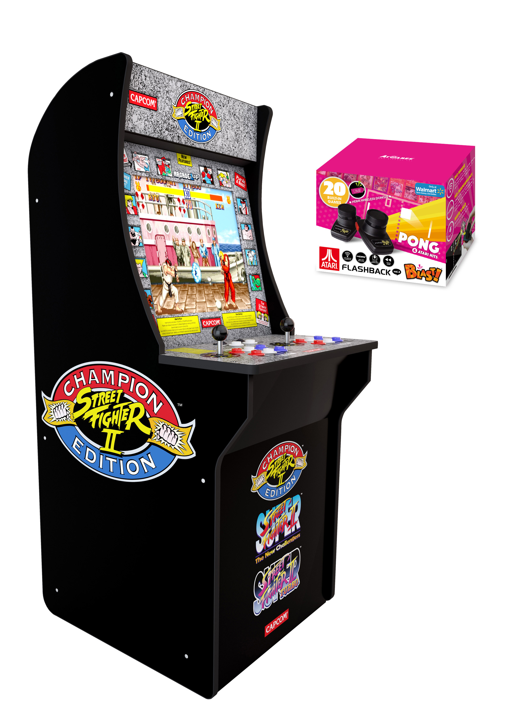 $50 off Arcade1Up: Street Fighter 2 Arcade Cabinets (4 ft