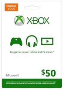 $50 Xbox Gift Card + $10 Bonus Xbox Gift Card (Digital Code)