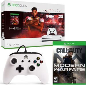 Xbox One S 1TB NBA 2K20 Bundle + Free Controller + Free Game