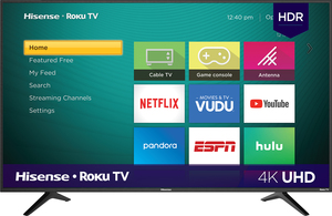 Hisense 58R6E 58-inch 4K HDR Roku Smart LED TV
