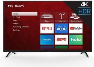 TCL 55S421 55-inch 4K HDR Roku Smart LED TV