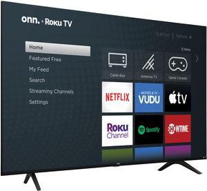 onn. 65-inch 4K HDR Roku Smart LED TV (100021261)